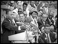 Martin Luther King was the last speaker at the rally