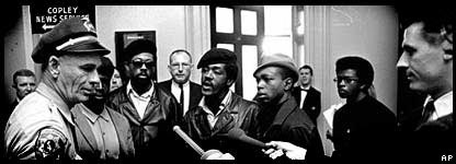 The Black Panthers were armed and followed the police to check up on their activities