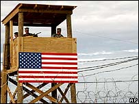File photo of a watchtower at the Guantanamo Bay detention centre