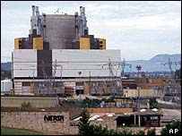 The superphenix reactor at Creys Malville