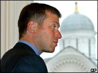 Mr Abramovich at a meeting in the Kremlin
