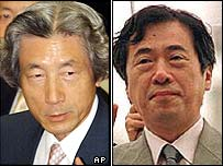 Junichiro Koizumi (left), Naoto Kan (right)