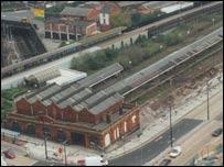 Aerial view of Moor Street Station