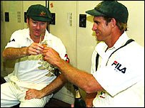 Steve Waugh and Matthew Hayden