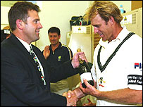 Mark Taylor and Matthew Hayden