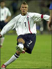 David Beckham scores with that free kick against Greece