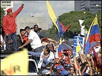 Chavez greets crowds