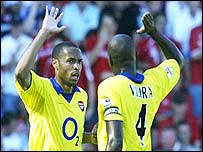 Arsenal duo Thierry Henry and Patrick Vieira