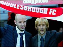 Boro new boys Mills and Mendieta