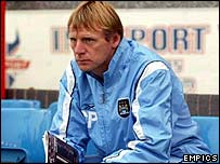 Manchester City coach Stuart Pearce