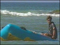 Lifeguard at Godrevy beach