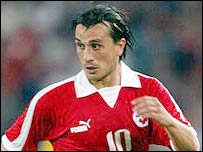 Swiss striker Hakan Yakin 