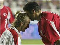 David Beckham (left) and Alpay