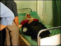 Patient at al-Yarmouk hospital in western Baghdad