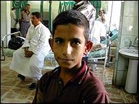 Unknown child at al-Yarmouk hospital in western Baghdad