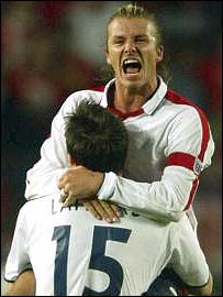 David Beckham celebrates qualification
