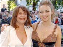Charlotte Church and her mother Maria at the premier