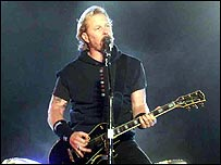Metallica singer James Hetfield at Reading