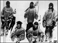 The five men from the 1912 Scott Expedition to the South Pole