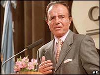 Former Argentine President Carols Menem