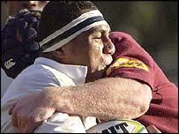 Sisa Koyamaibole is among the Fijians playing rugby in Japan