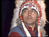 Chief Phil Fontaine at Assembly of First Nations in Vancouver in 1999