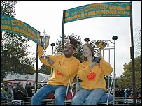 Brian Stewart and Debbie Oates - Conker King and Queen