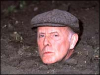 Richard Wilson as Victor Meldrew in the BBC's One Foot in the Grave