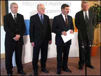 Left to right, John Grieve, Joseph Brosnan, Lord Alderdice and Richard Kerr