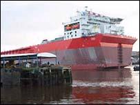 Bonga oil and gas platform on the River Tyne