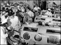 A US polio ward circa 1955