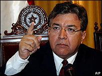Nicanor Duarte Frutos, presidente de Paraguay