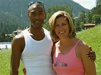 Athletics legends Colin Jackson and Sally Gunnell