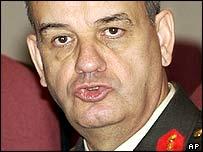 General Ilker Basbug at news conference