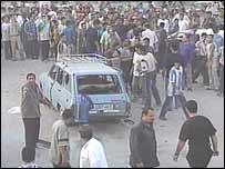 Gaza scene after strike