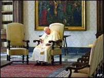 Papa Juan Pablo II, este lunes.
