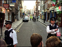 Police at Old Compton Street