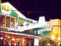 Bar in Manila with plane