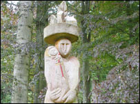 Carving of Mother Earth