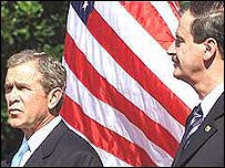 US President Bush and Mexico President Fox