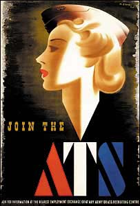 Wartime recruitment poster for the Auxiliary Territorial Service