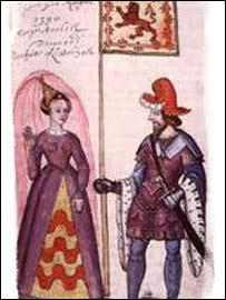 Роберт III с женой
