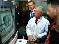 Tony Blair at Croydon asylum screening unit