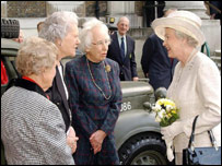 The Queen meets former members of the Auxiliary Territorial Service