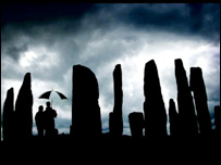 Standing stones at Callanish, where the new discovery was made
