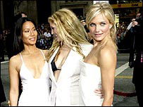 Charlie's Angels at the premiere of Full Throttle