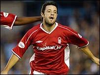 Forest midfielder Andy Reid