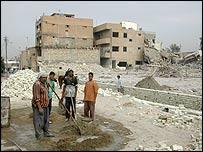 Baghdad street cleaners