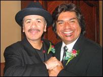 Carlos Santana y George L�pez.