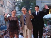 Christina Ricci, Woody Allen and Jason Biggs